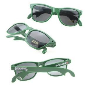 Plastic Promotional Sunglasses With Bottle Opener