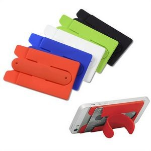 Silicone wallet holder phone stand