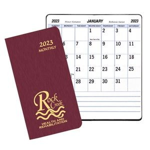 Large Print Monthly Pocket Planner w/ Shimmer Cover