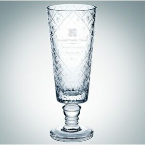 "Diamond Net Lead Crystal Vase (13 1/2"")"