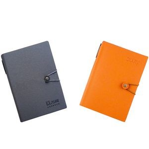 High Quality PU Leather Cover Business Journal Notebook with Card Cases